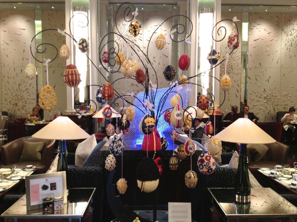 L'arbre de Pâques du Langham Hotel de Londres