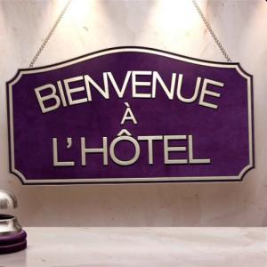 logo bienvenue à l'hôtel